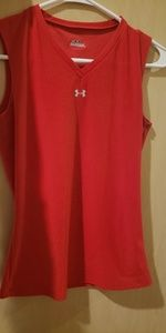 Womens Under Armour Red Tank Top